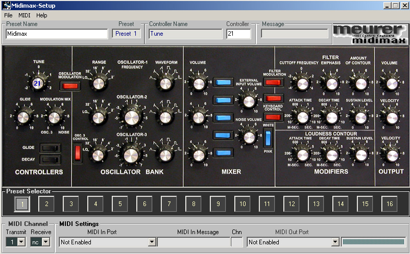 Midimax MIDI cc configuration tool for windows (zip)
